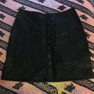 Free People vegan leather skirt.